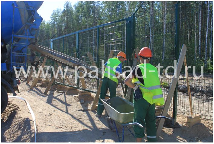 Монтаж и установка металлических заборов и ограждений